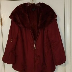 Stunning IMAN burgundy jacket..XL